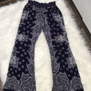 ANTHROPOLOGIE PATRONS OF PEACE PILAZZO PANTS